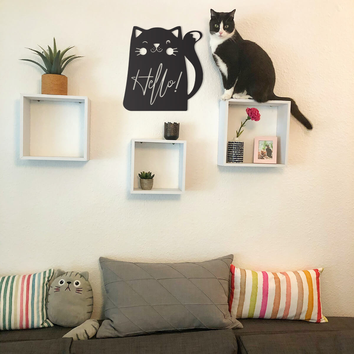 Hello Cat Wall Art  - RealSteel Center