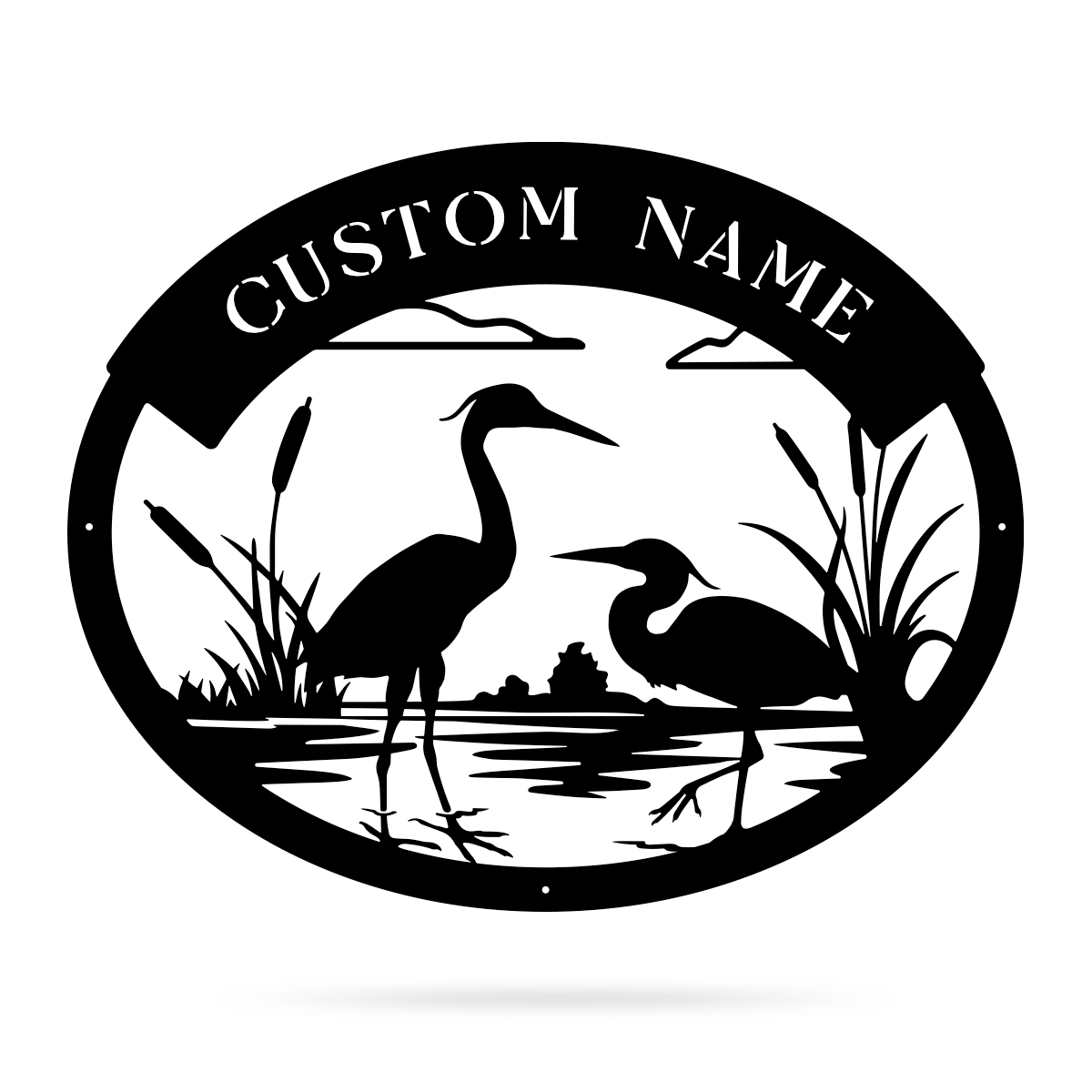 "Herons Monogram 16""x20"" / Black - RealSteel Center"