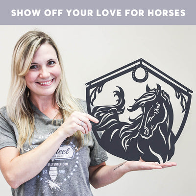 Horse and Barn Sign  - RealSteel Center