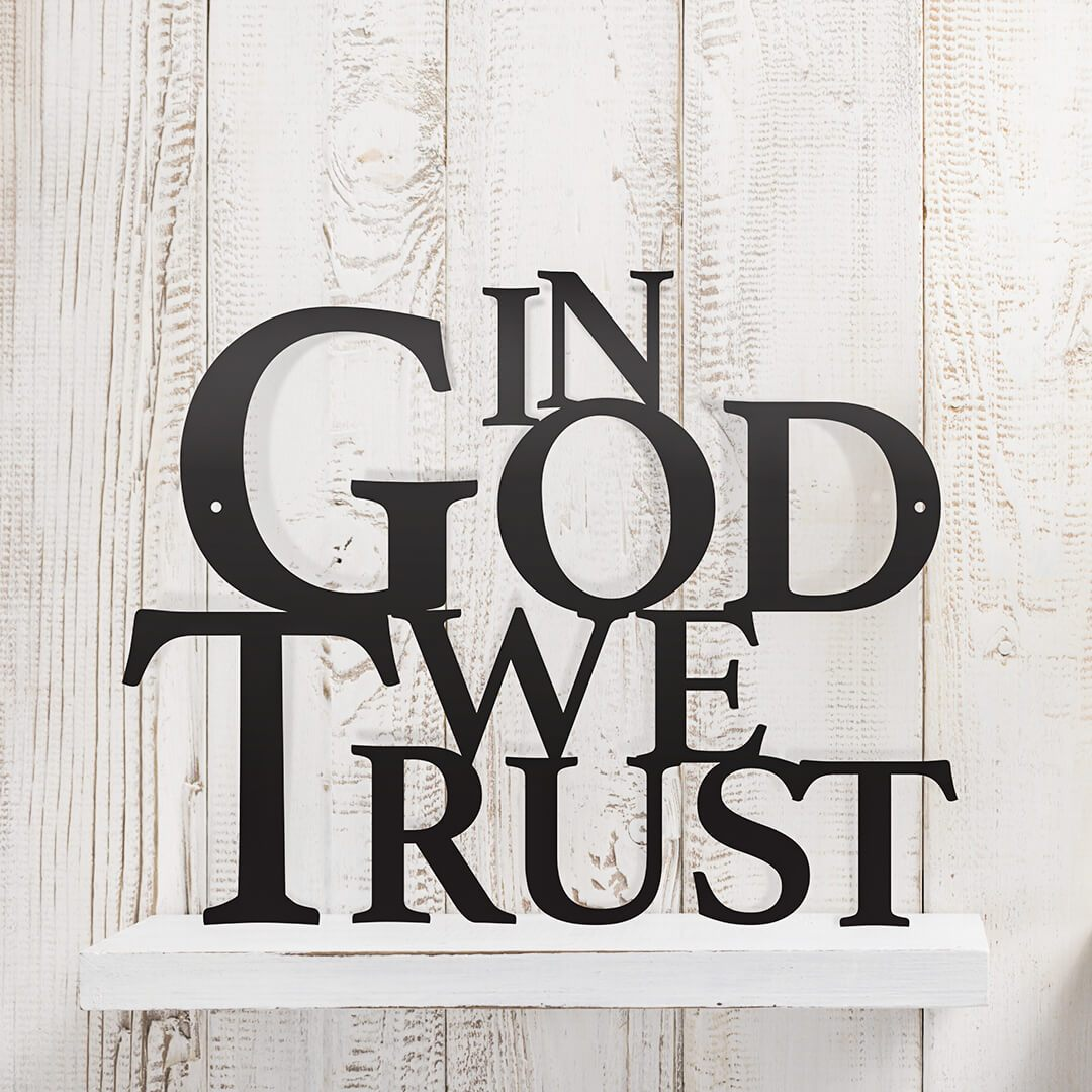 "In God We Trust Wall Art 12""x12"" / Black - RealSteel Center"