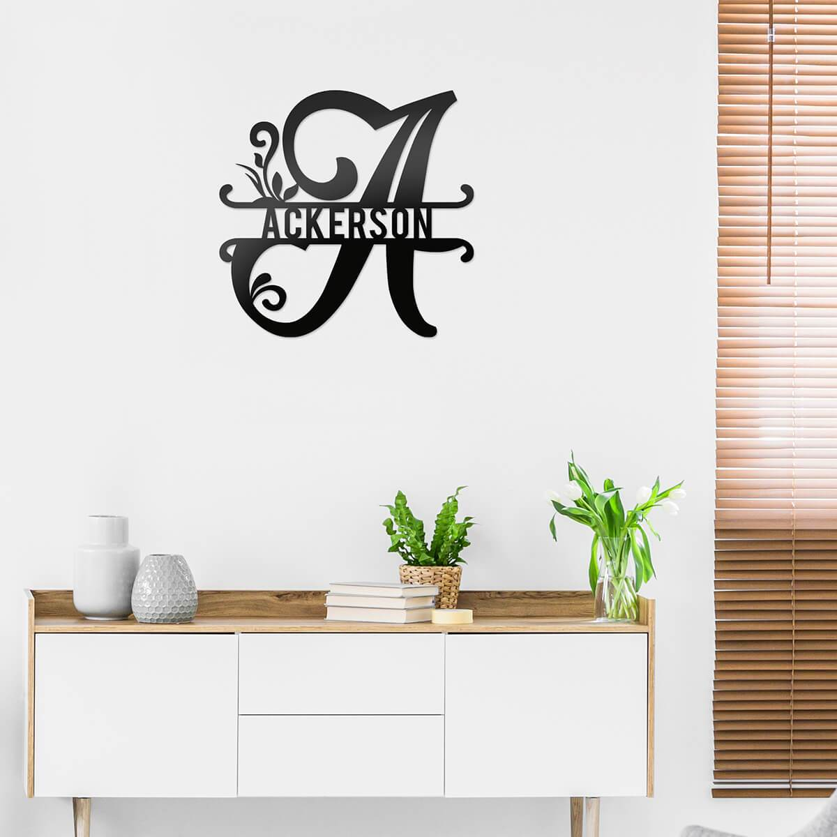 Initial Monogram Metal Sign Decor  - RealSteel Center