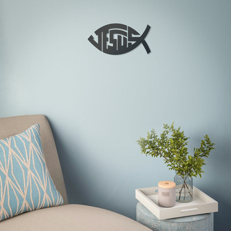 "Jesus Christ ""Ichthys"" Symbol Wall Art  - RealSteel Center"