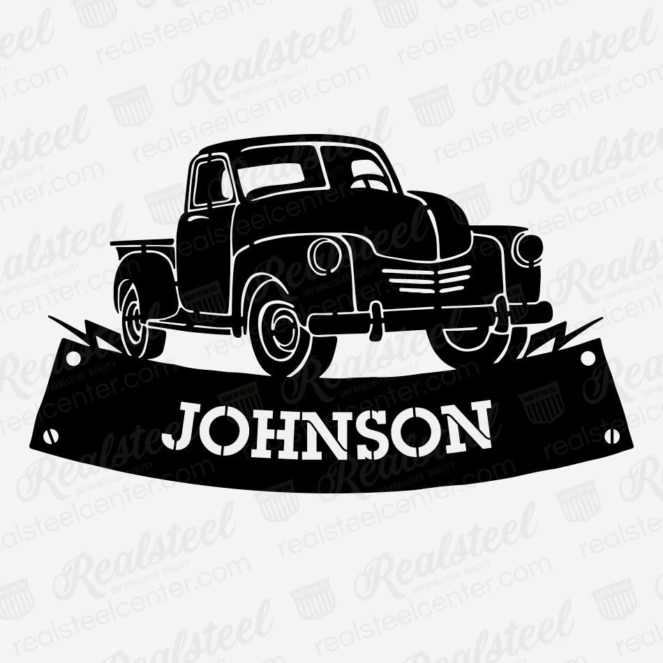 Pickup Truck Monogram  - RealSteel Center