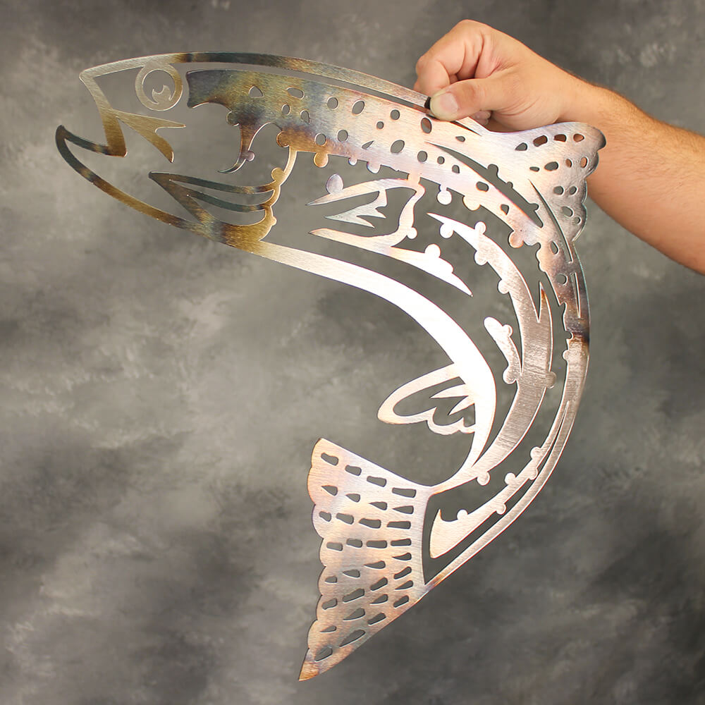 Jumping Trout Metal Wall Art  - RealSteel Center