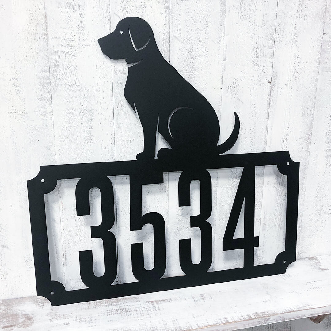 Labrador Home Number Monogram  - RealSteel Center