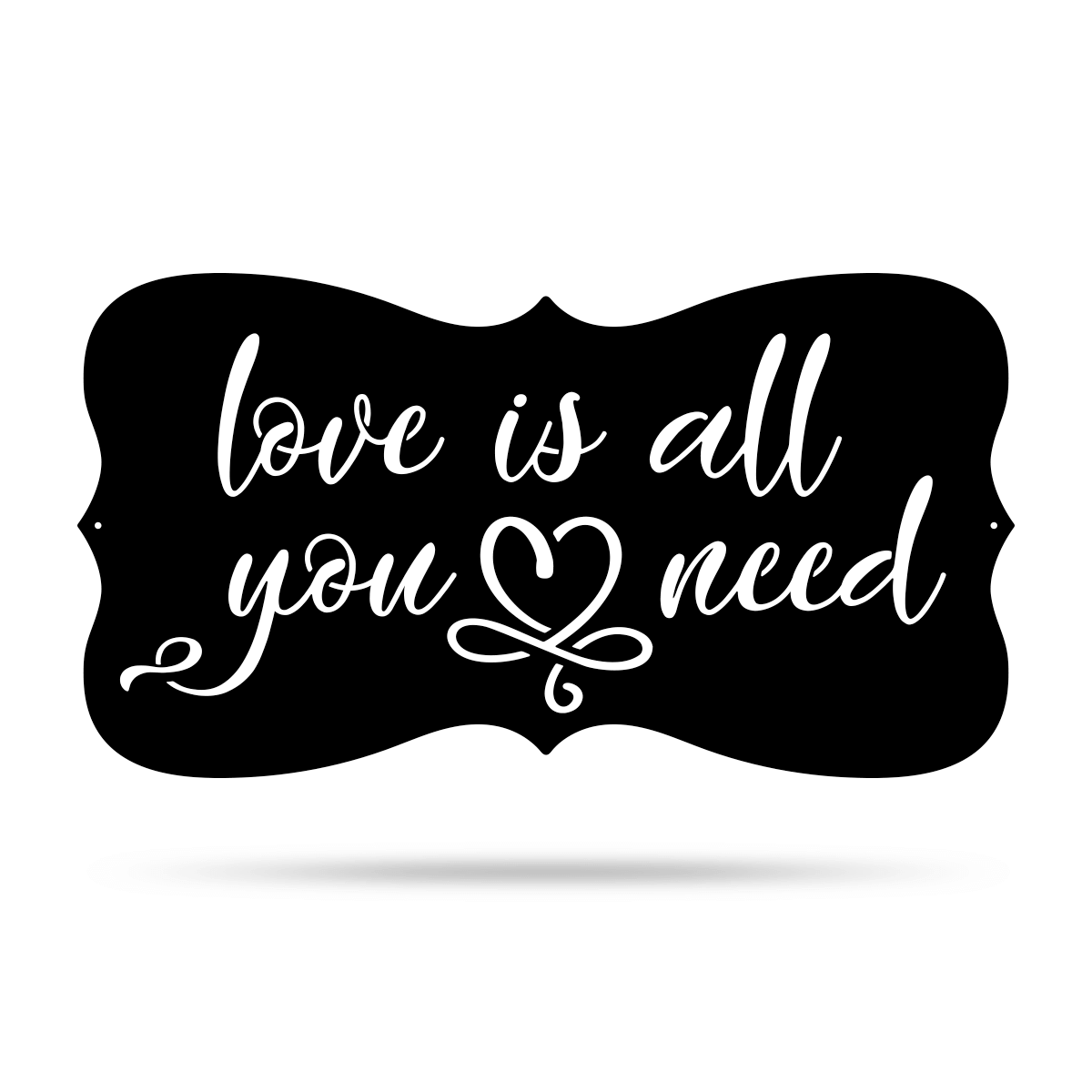 "Love Is All You Need Wall Art 9.5""x18"" / Black - RealSteel Center"