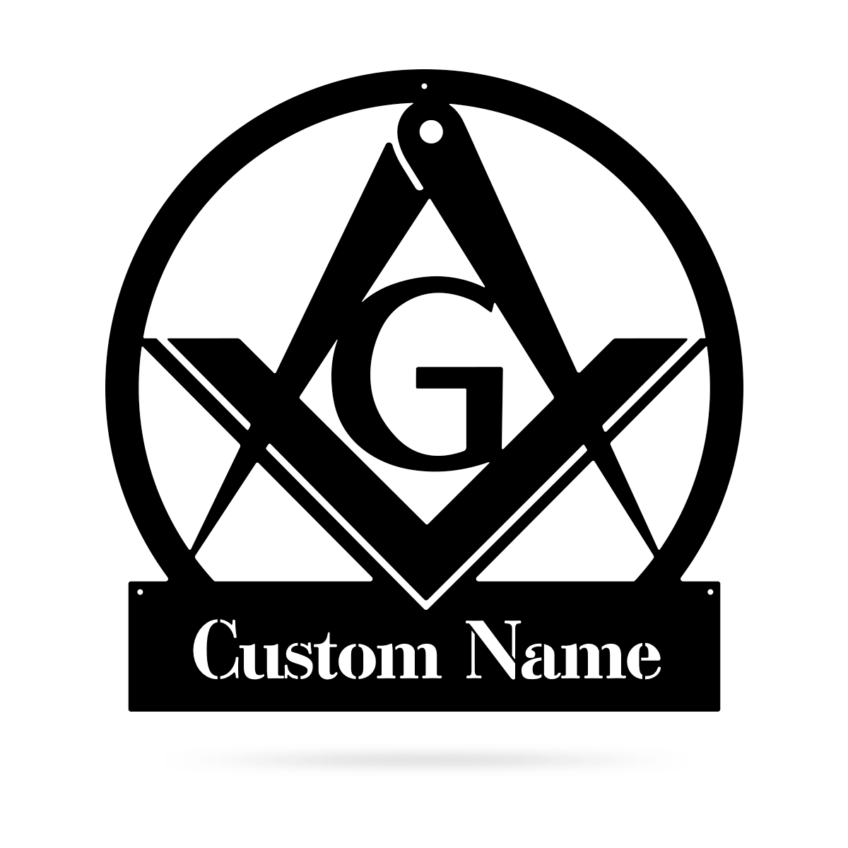 "Masonic Monogram 18"" / Black - RealSteel Center"