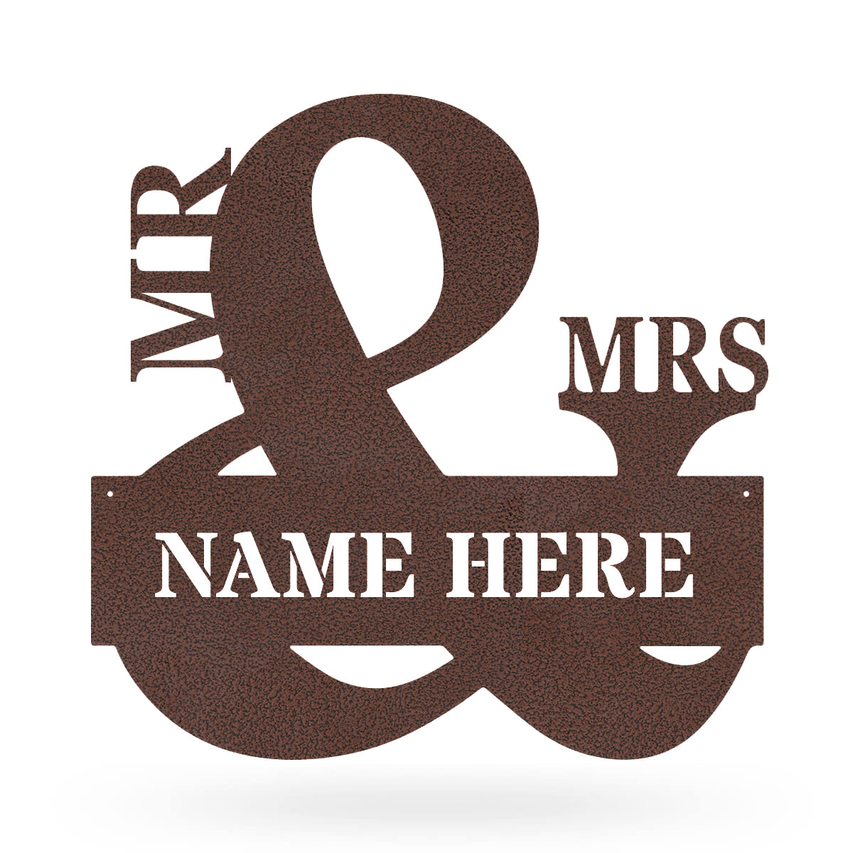 "Mr & Mrs Monogram 20""x20"" / Penny Vein - RealSteel Center"