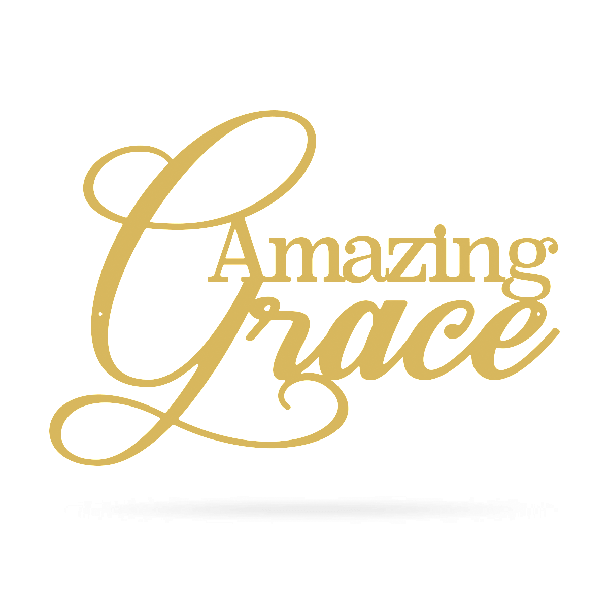 "Amazing Grace Wall Art 10""x14"" / Gold - RealSteel Center"