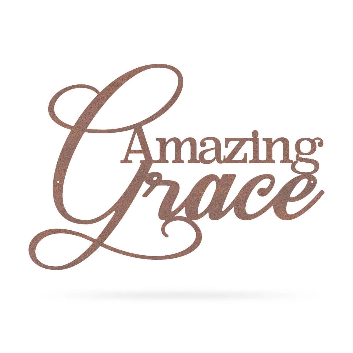 "Amazing Grace Wall Art 10""x14"" / Rust - RealSteel Center"