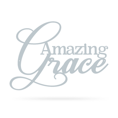 "Amazing Grace Wall Art 10""x14"" / Textured Silver - RealSteel Center"