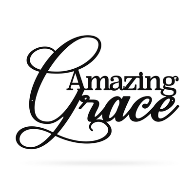 "Amazing Grace Wall Art 10""x14"" / Black - RealSteel Center"