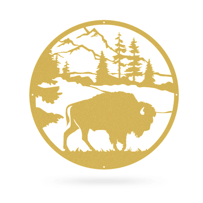 "American Bison 20""x20"" / Gold - RealSteel Center"