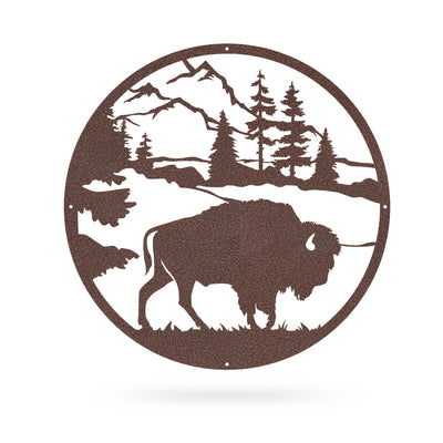 "American Bison 20""x20"" / Penny Vein - RealSteel Center"