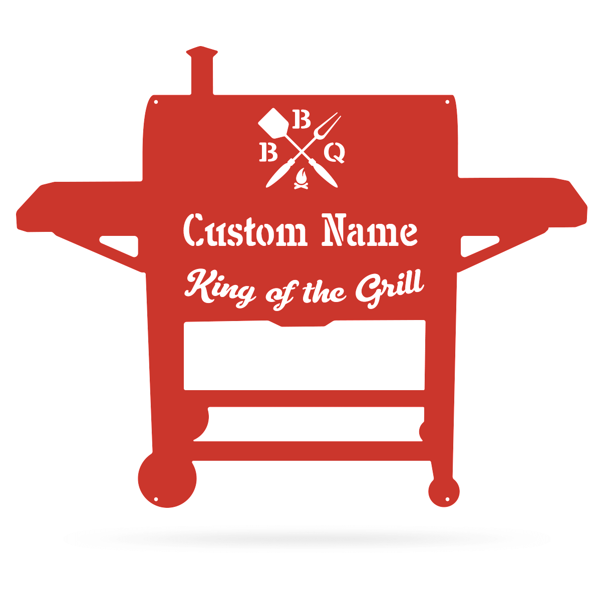 "BBQ Monogram 19""x24"" / Red - RealSteel Center"