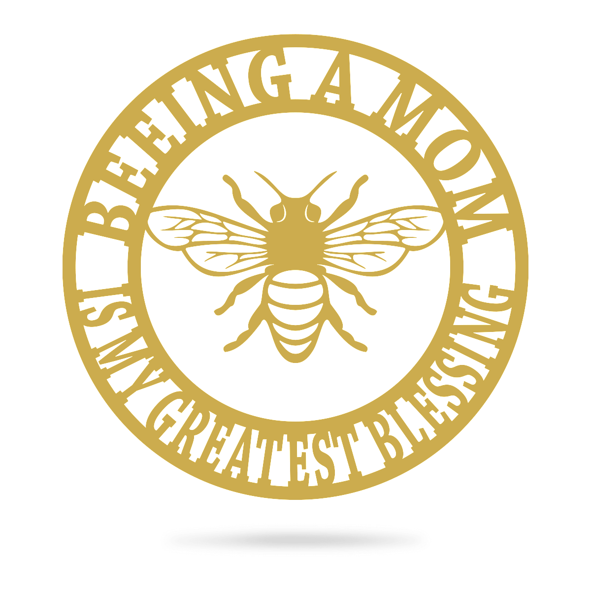 "Beeing A Mom Wall Art 14"" / Gold - RealSteel Center"