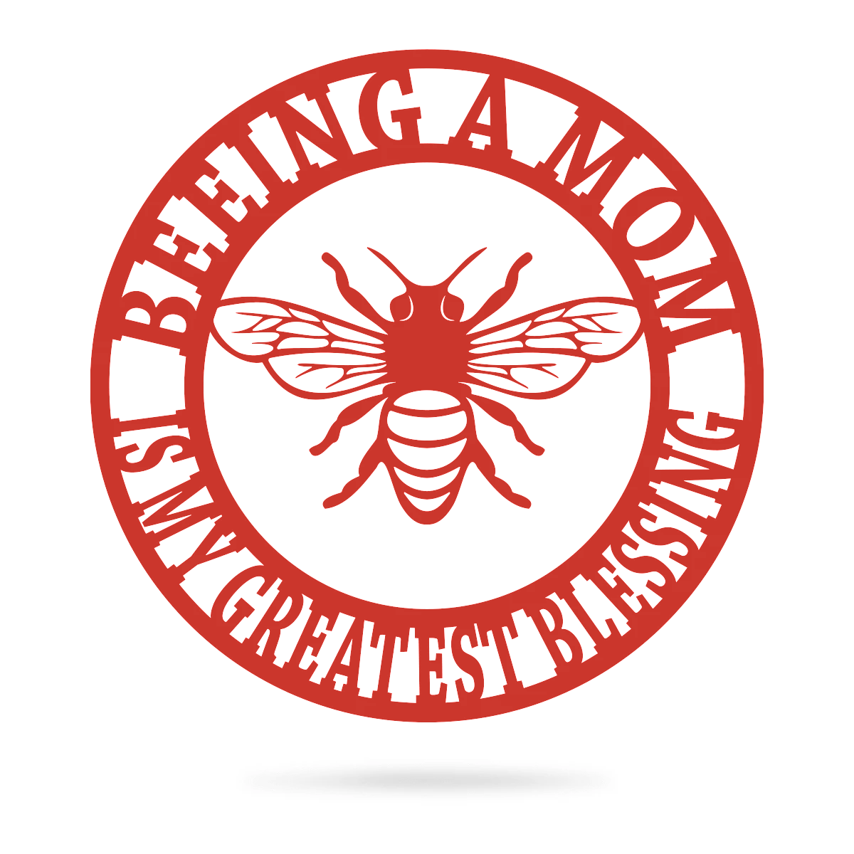 "Beeing A Mom Wall Art 14"" / Red - RealSteel Center"