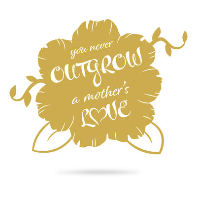 "A Mothers Love Wall Art 12""x16"" / Gold - RealSteel Center"