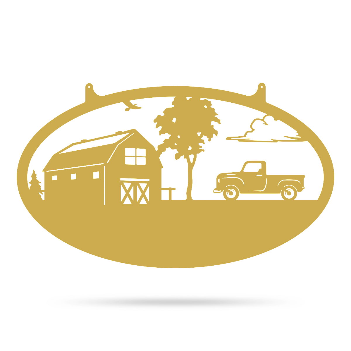 "Choose Your Farm Sign 14""x24"" / Gold / Pickup Truck - RealSteel Center"