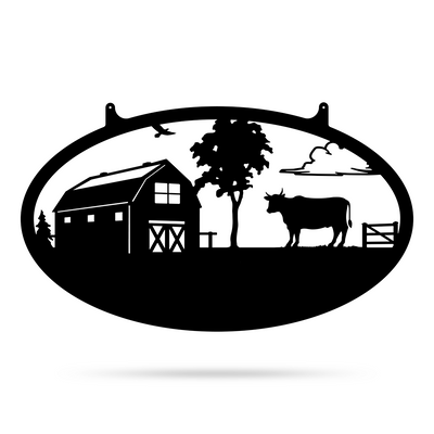 "Choose Your Farm Sign 14""x24"" / Black / Bull - RealSteel Center"