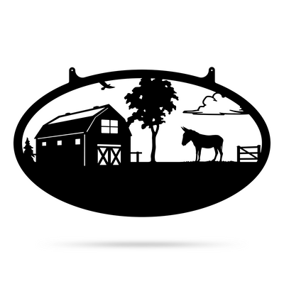 "Choose Your Farm Sign 14""x24"" / Black / Donkey - RealSteel Center"