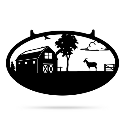 "Choose Your Farm Sign 14""x24"" / Black / Goat - RealSteel Center"