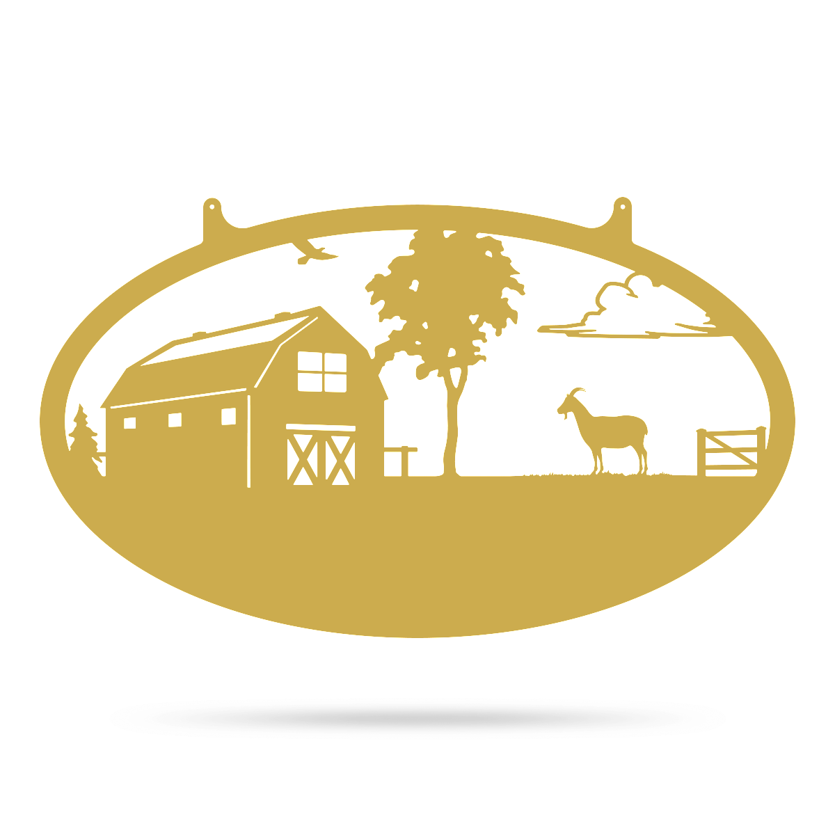 "Choose Your Farm Sign 14""x24"" / Gold / Goat - RealSteel Center"