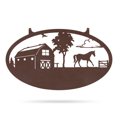 "Choose Your Farm Sign 14""x24"" / Penny Vein / Horse - RealSteel Center"