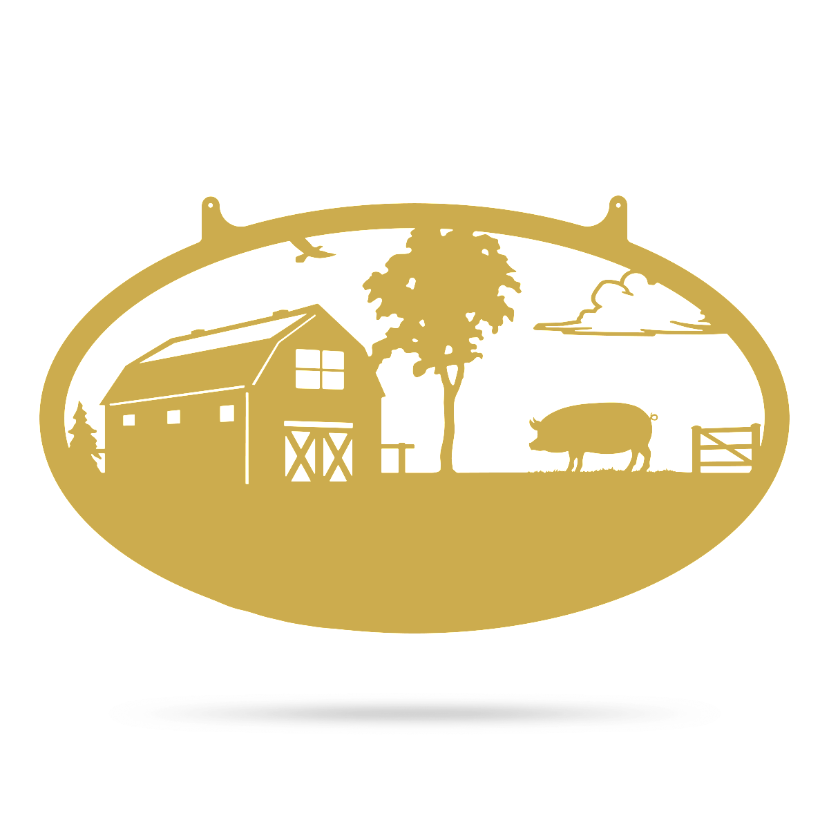"Choose Your Farm Sign 14""x24"" / Gold / Pig - RealSteel Center"