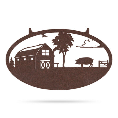 "Choose Your Farm Sign 14""x24"" / Penny Vein / Pig - RealSteel Center"