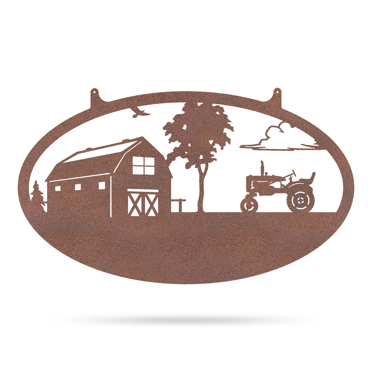 "Choose Your Farm Sign 14""x24"" / Rust / Tractor - RealSteel Center"