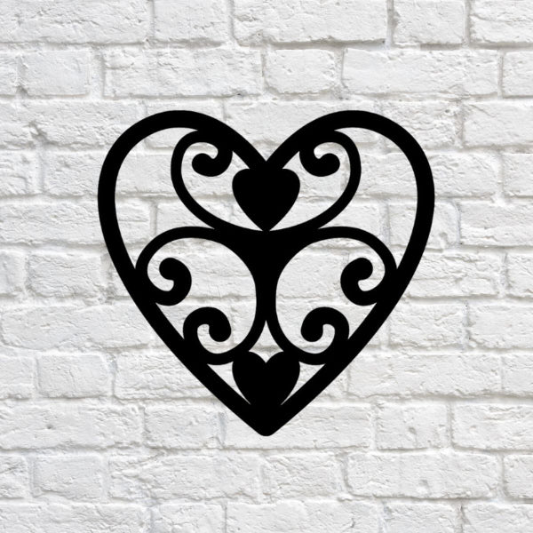 Elegant Heart Wall Art  - RealSteel Center