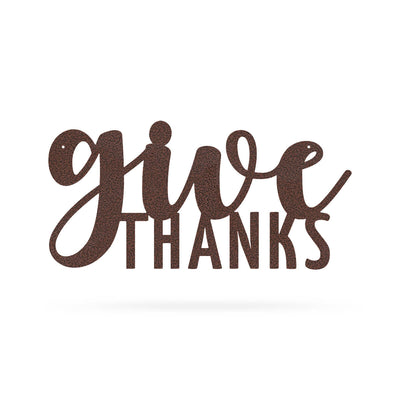 "Give Thanks Wall Art 9""x18"" / Penny Vein - RealSteel Center"
