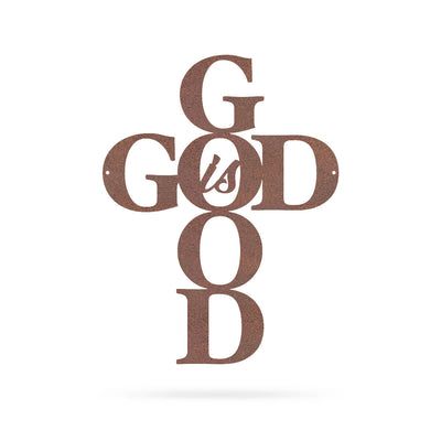 "God is Good Wall Art 9""x12"" / Rust - RealSteel Center"