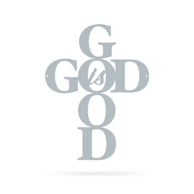 "God is Good Wall Art 9""x12"" / Textured Silver - RealSteel Center"