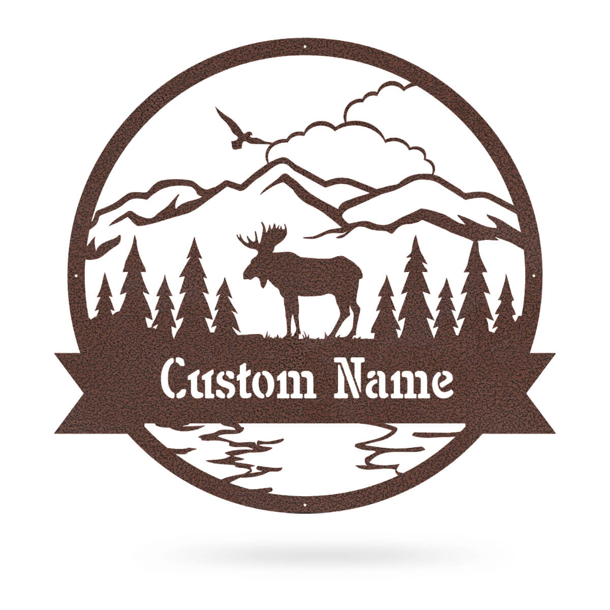 "Great Outdoors Moose Monogram 20""x20"" / Penny Vein - RealSteel Center"