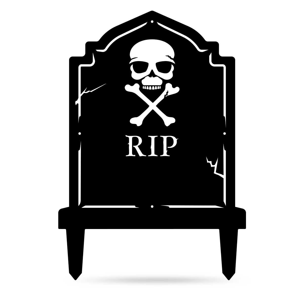 "Halloween Tombstone Monogram 30""x21"" / Black - RealSteel Center"