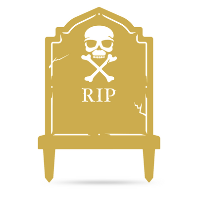 "Halloween Tombstone Monogram 30""x21"" / Gold - RealSteel Center"
