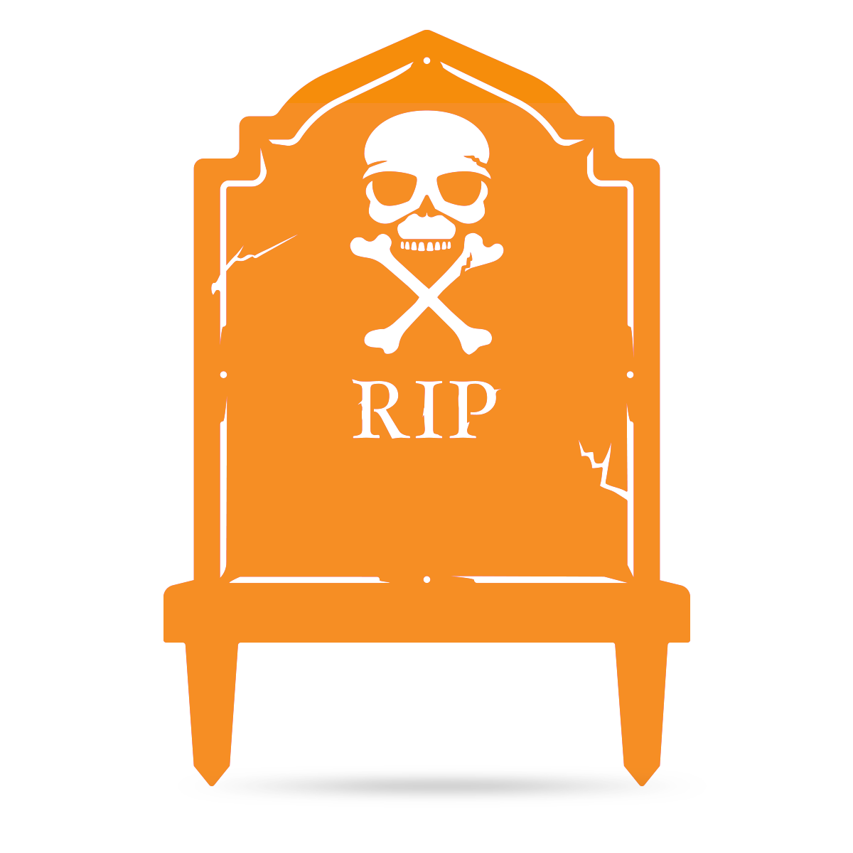 "Halloween Tombstone Monogram 30""x21"" / Orange - RealSteel Center"
