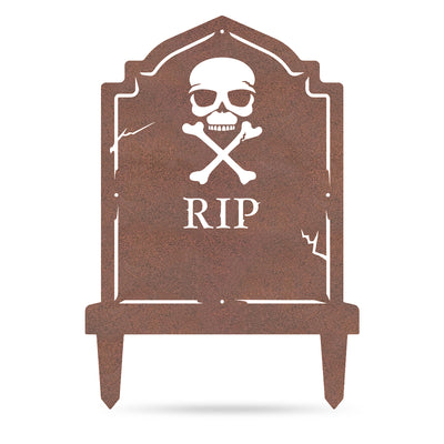 "Halloween Tombstone Monogram 30""x21"" / Rust - RealSteel Center"