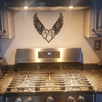 Heart with Angel Wings Monogram  - RealSteel Center