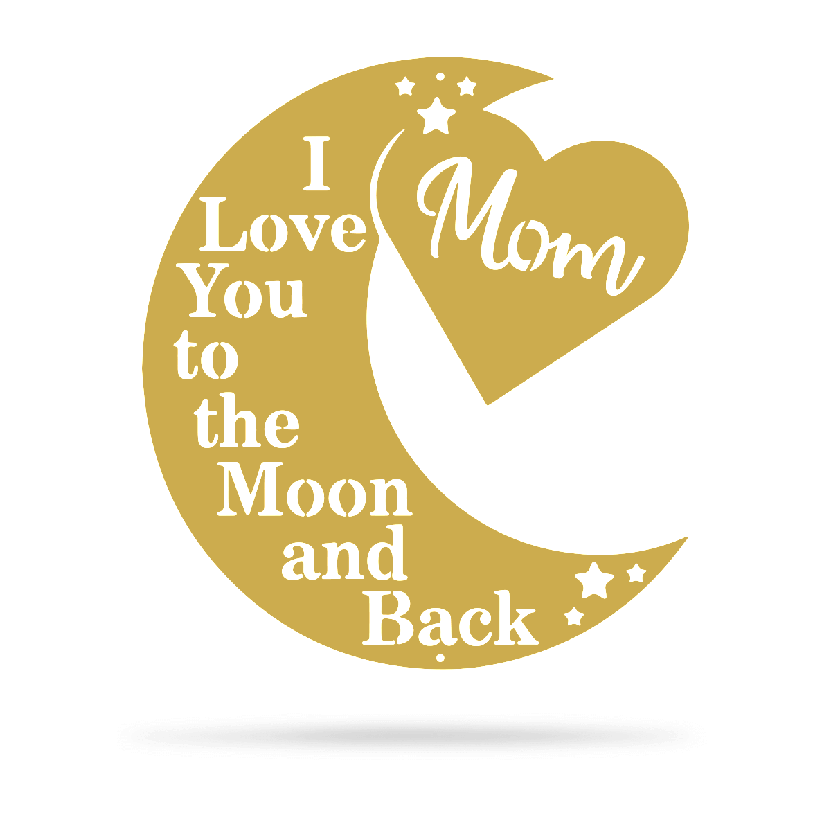 "Love You To The Moon Wall Art - Mom Ltd 18"" / Gold - RealSteel Center"