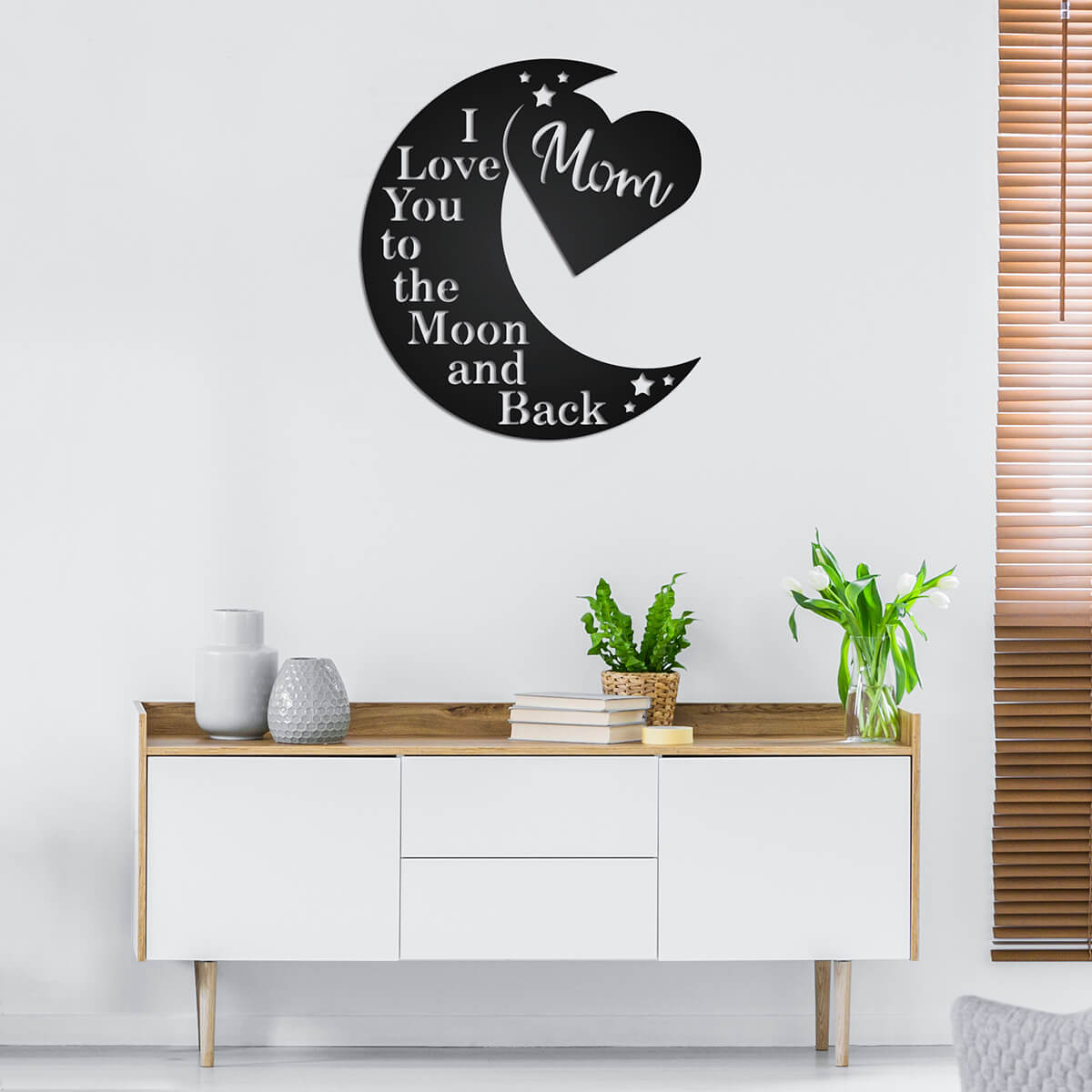 Love You To The Moon Wall Art - Mom Ltd  - RealSteel Center