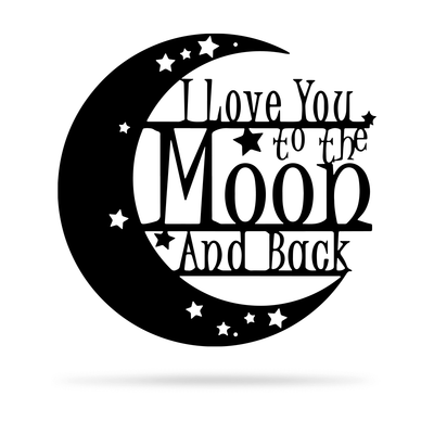 "Love You To The Moon Wall Art - 2nd Ed 18"" / Black - RealSteel Center"