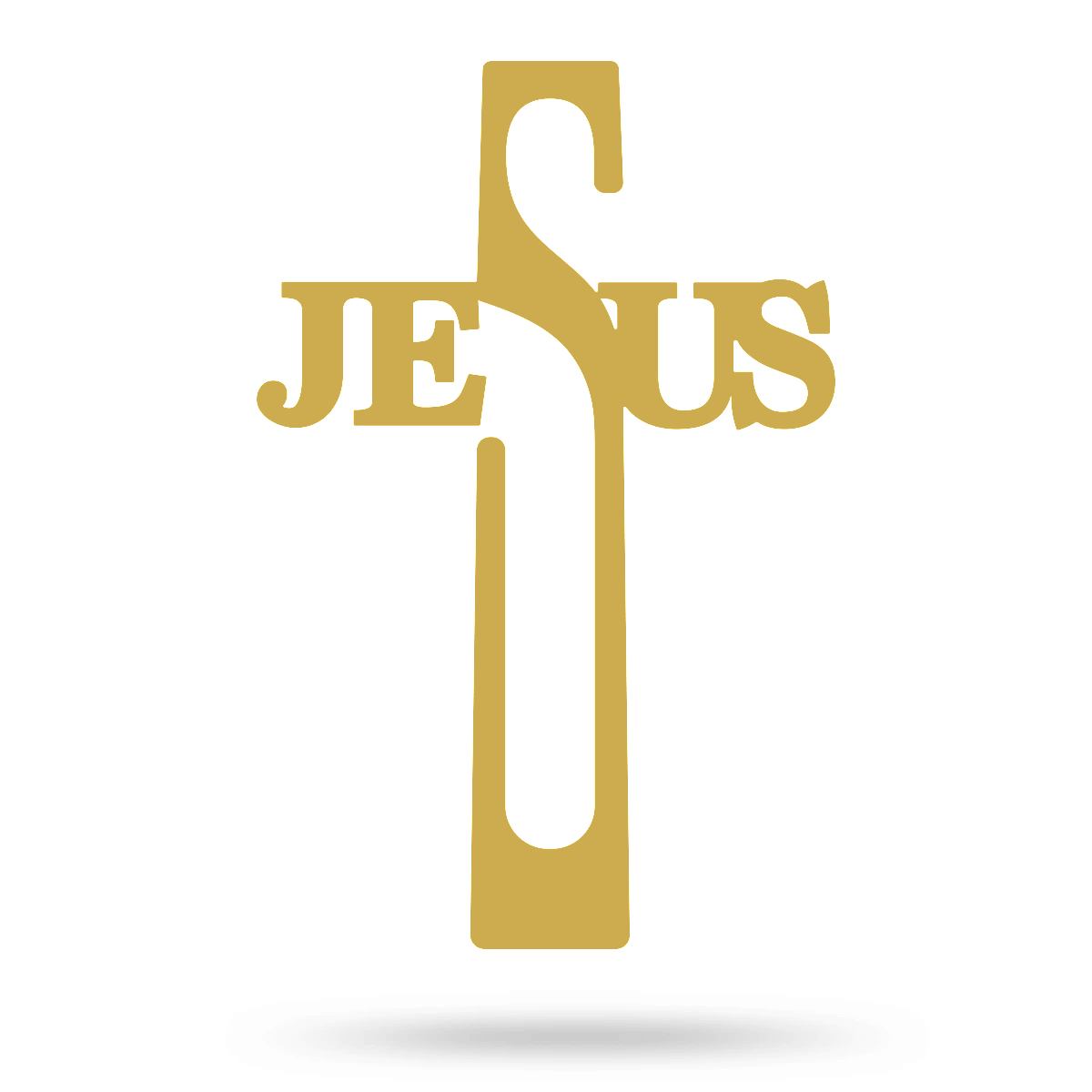 "Jesus Cross Wall Art 8""x16"" / Gold - RealSteel Center"