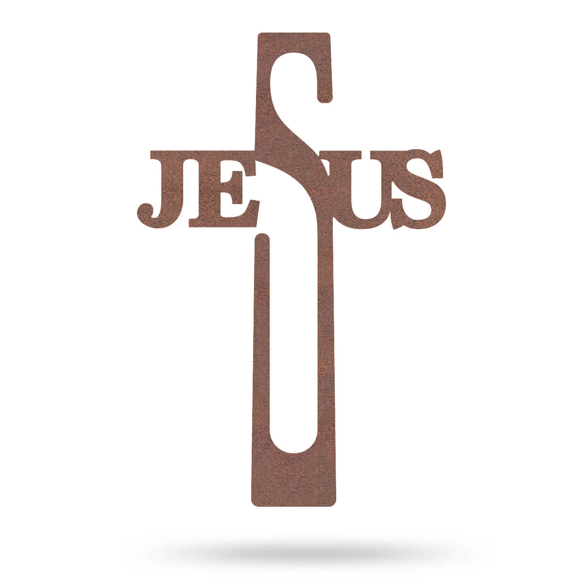 "Jesus Cross Wall Art 8""x16"" / Rust - RealSteel Center"