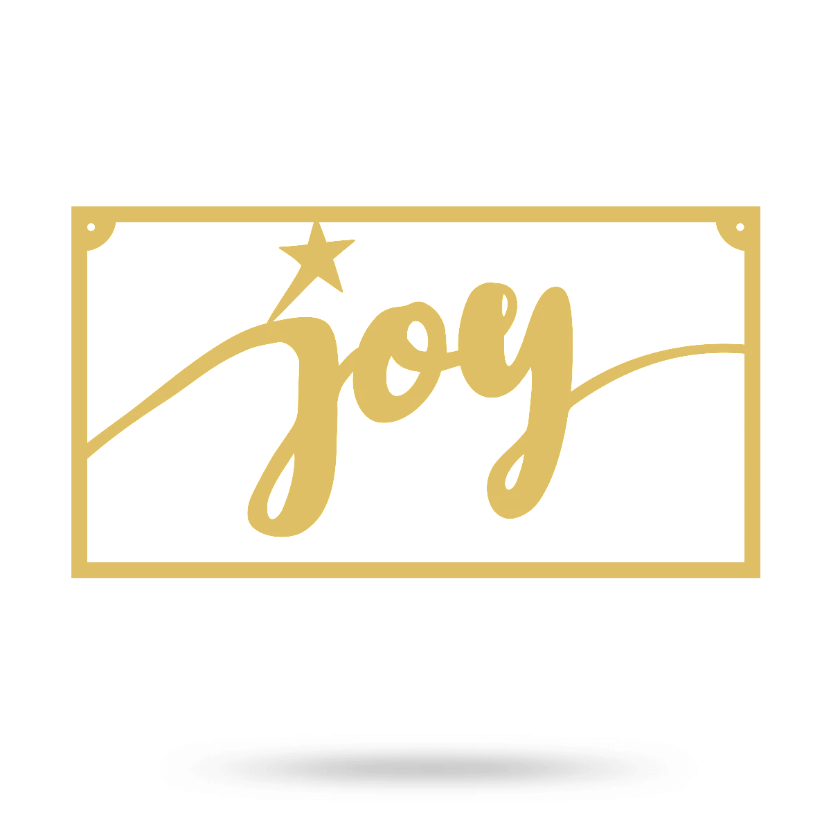 "Joy Metal Sign 8""x15"" / Gold - RealSteel Center"