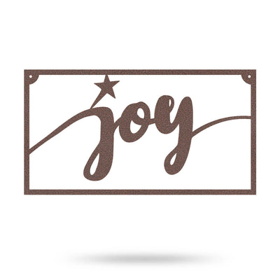 "Joy Metal Sign 8""x15"" / Penny Vein - RealSteel Center"