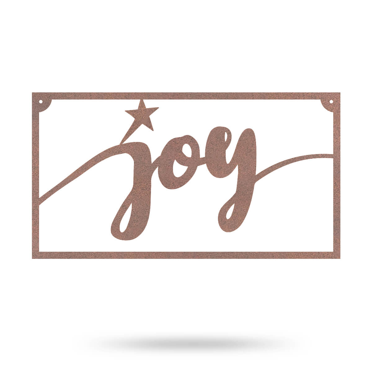 "Joy Metal Sign 8""x15"" / Rust - RealSteel Center"
