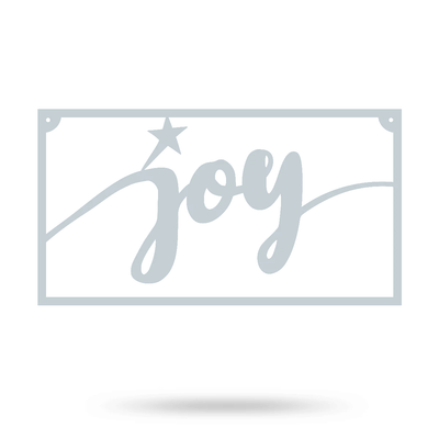 "Joy Metal Sign 8""x15"" / Textured Silver - RealSteel Center"